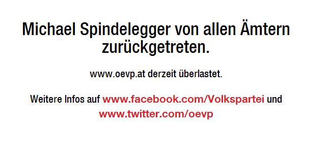ÖVP Seite überlastet