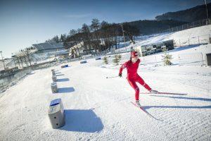 Biathlon Schnee Spielberg