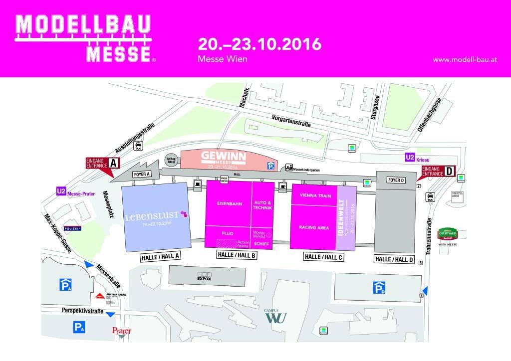 Modellbaumesse Wien Plan