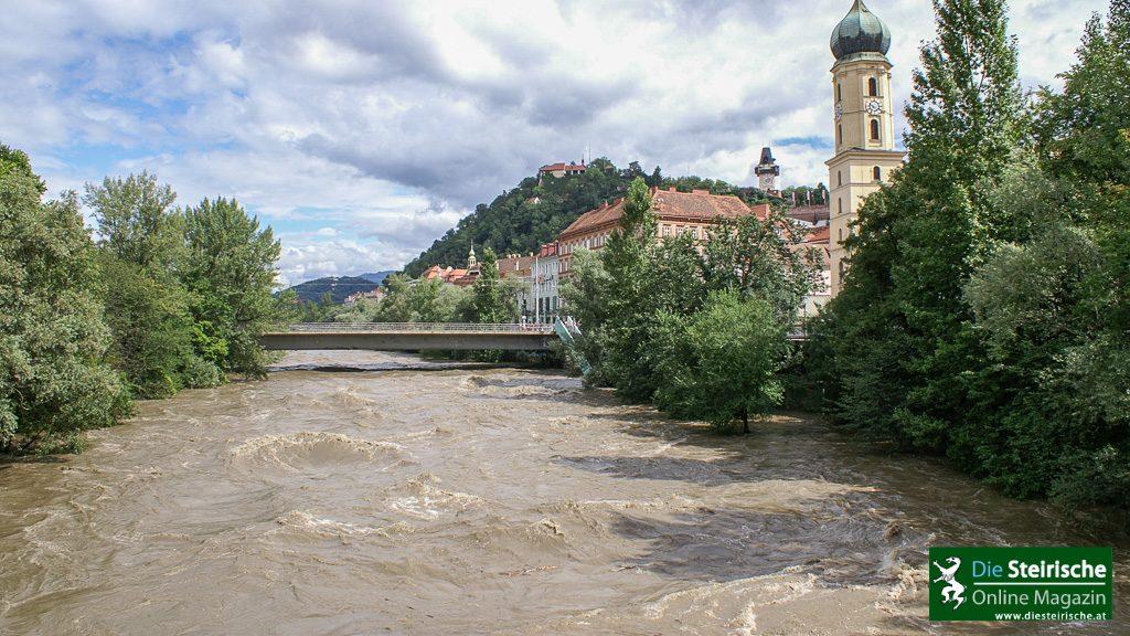 Hochwasser Mur Graz